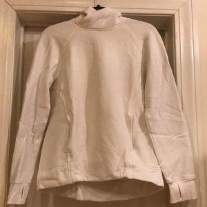 Lululemon high neck white sweatshirt